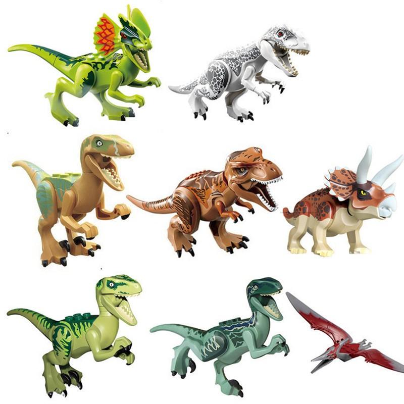 XINH Figurky / Minifigurky Jurský park dinosauři typ LEGO sada 8ks