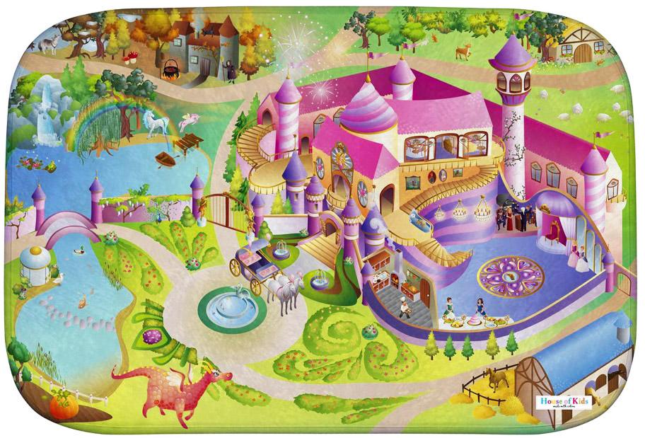 Dětský hrací koberec Zámek princezna 3D Ultra Soft 100x150