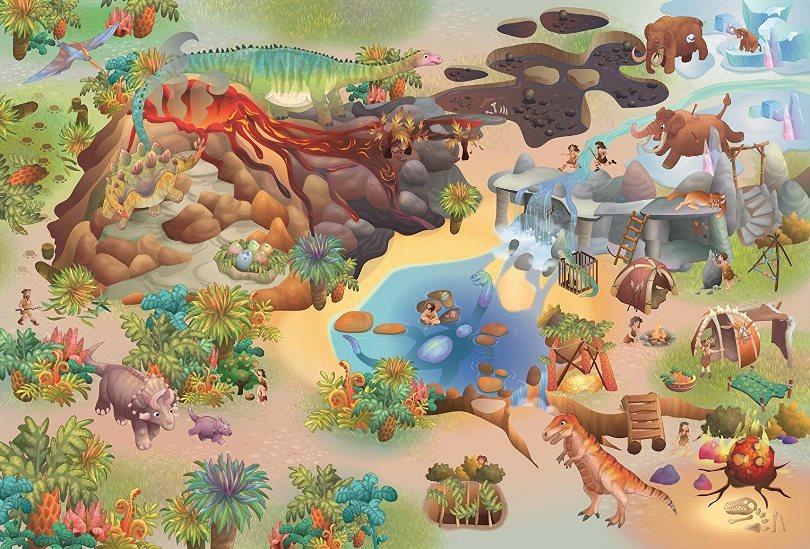 Dětský hrací koberec Dinosauři 3D 100x150