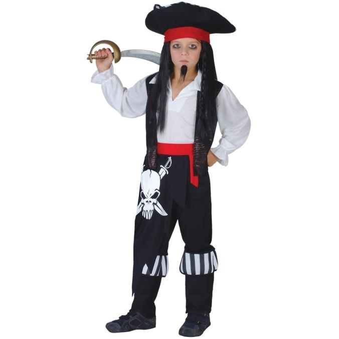 Fotografie Dětský kostým Pirát s lebkou 6 dílný set vel. S-XL S