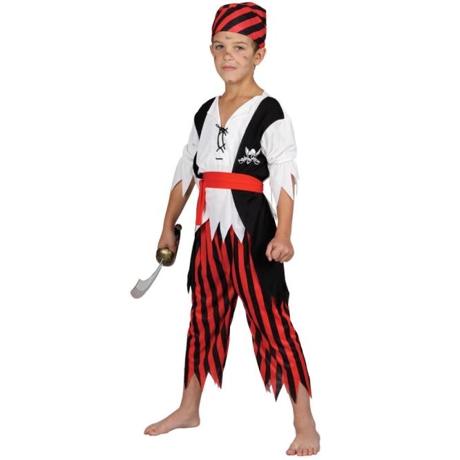 Dětský kostým Pirát 3 dílný set vel. S-XL S