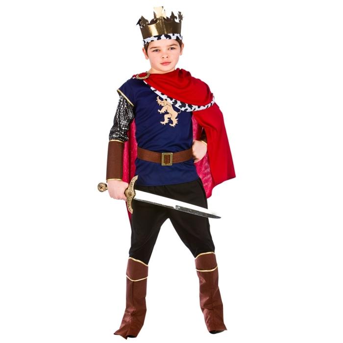 Fotografie Dětský kostým Král deluxe 7 dílný set vel. S-XL L