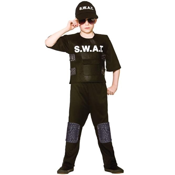Dětský kostým SWAT 5 dílný set vel. S-XL M