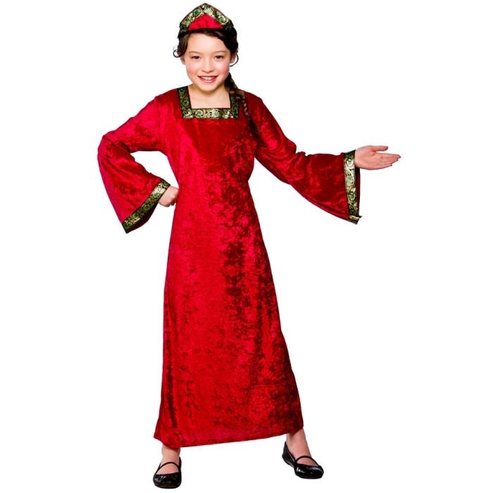 Dětský kostým Princezna tudorovská 2 dílný set vel. S-XL S