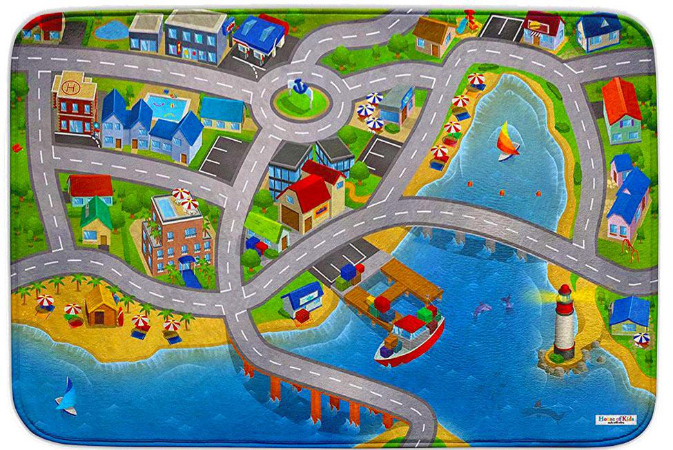 Dětský hrací koberec Přístav 3D Ultra Soft 70x100