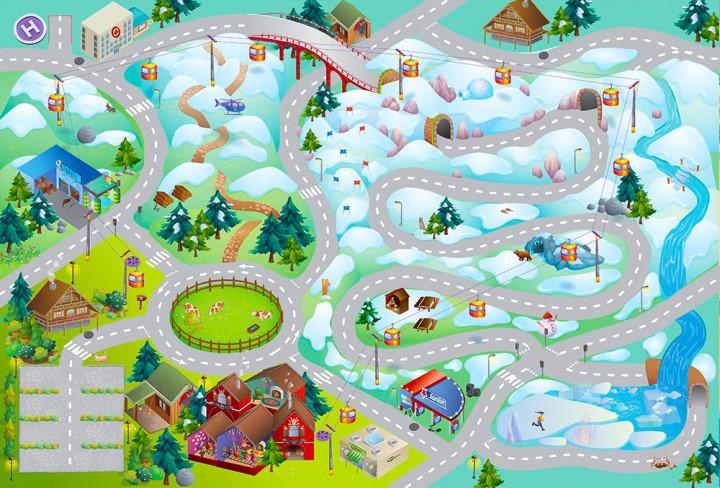 Dětský hrací koberec Horská silnice 3D 100x150