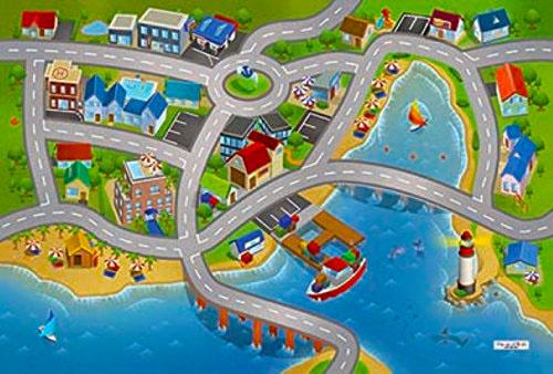Dětský hrací koberec Přístav 3D 100x150