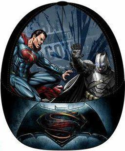 Dětská kšiltovka Batman vs. Superman černá bavlna vel. 52-54 52