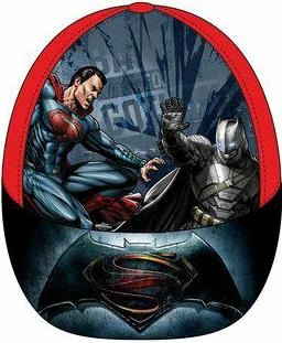 Dětská kšiltovka Batman vs. Superman červená bavlna vel. 52-54 52