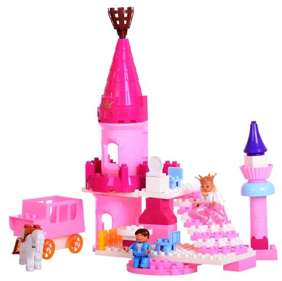 Blocki Mubi stavebnice Pohádkový zámek typ LEGO DUPLO 55 dílů