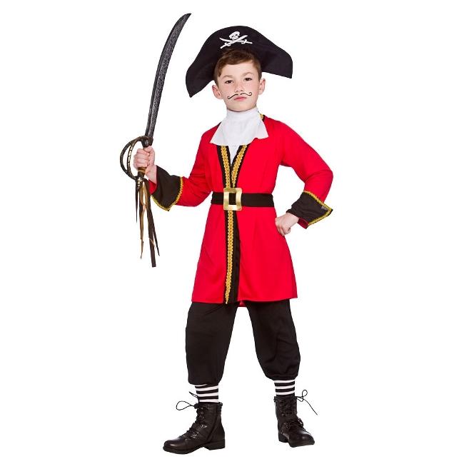 Dětský kostým Pirát - Pirátský kapitán 5 dílný set vel. S-XL S