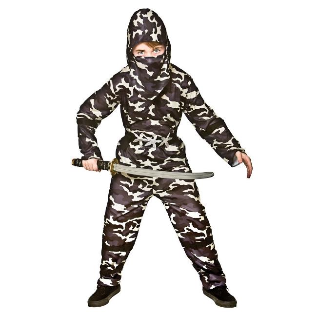 Fotografie Dětský kostým Ninja maskovaný - Delta force 4 dílný set vel. S-XL XL