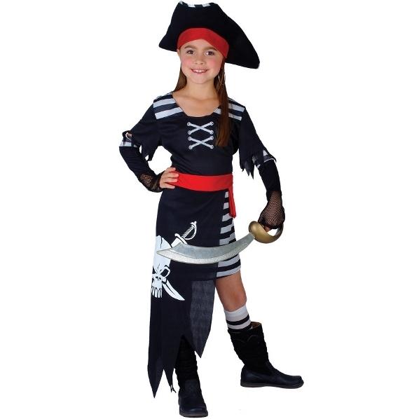 Dětský kostým Pirátka - Pirátská princezna 4 dílný set vel. S-XL S