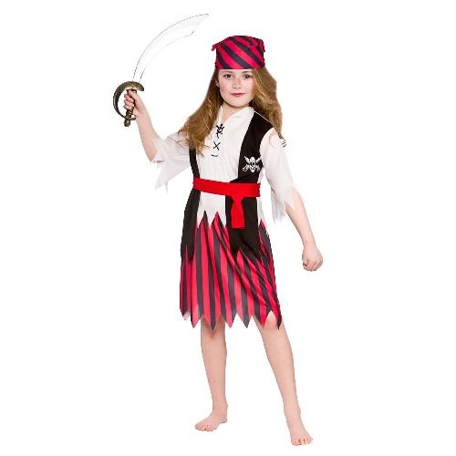 Dětský kostým Pirátka 4 dílný set vel. S-XL S