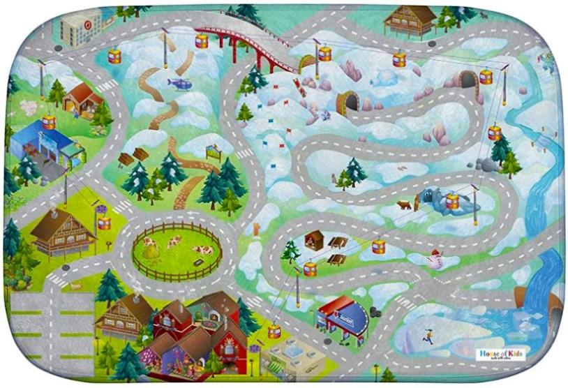 Dětský hrací koberec Horská silnice 3D Ultra Soft 100x150