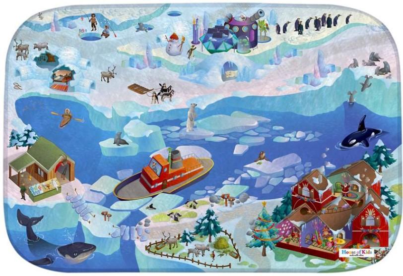Dětský hrací koberec Arktida 3D Ultra Soft 100x150