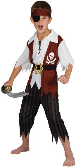 Dětský kostým Pirát 5 dílný set S