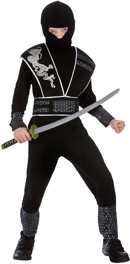 Dětský kostým Ninja Shadow Elite 6 dílný set S