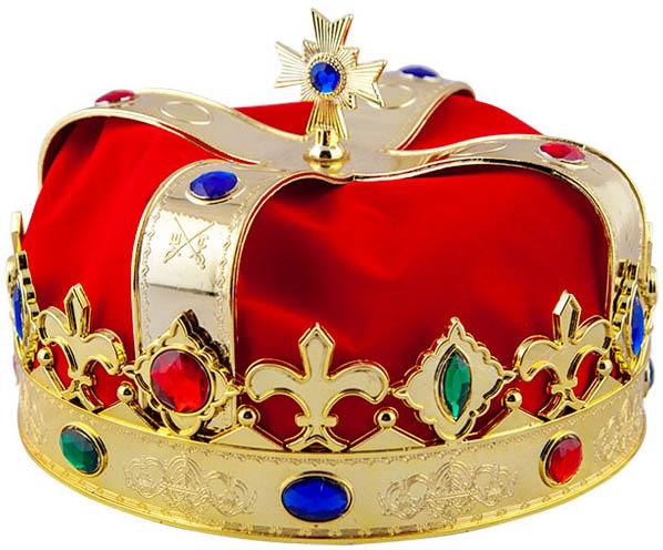 Královská koruna s rubíny deluxe