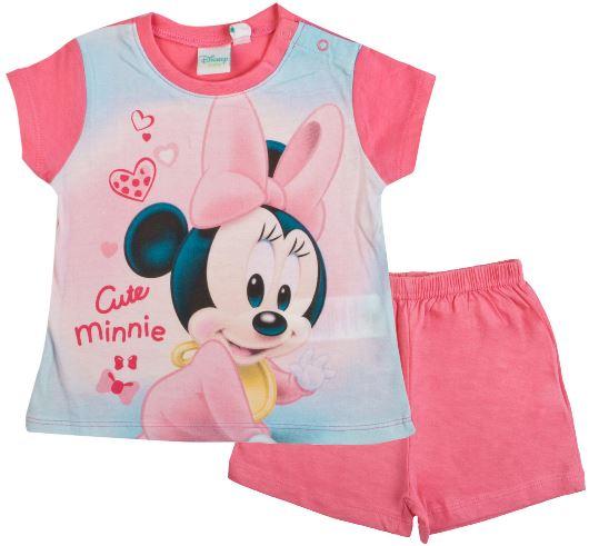 Kojenecké pyžamo Minnie Baby bavlna růžové 9M (71cm)