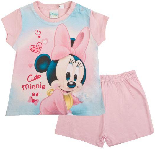 Kojenecké pyžamo Minnie Baby bavlna světle růžové 9M (71cm)