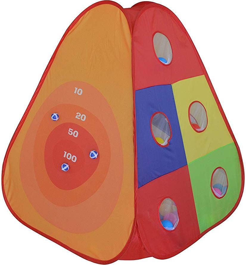 Dětský hrací stan Bullseye s míčky 30ks + 3 lepící míčky