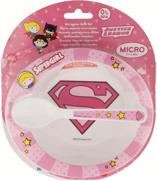 Jídelní sada Supergirl 2ks