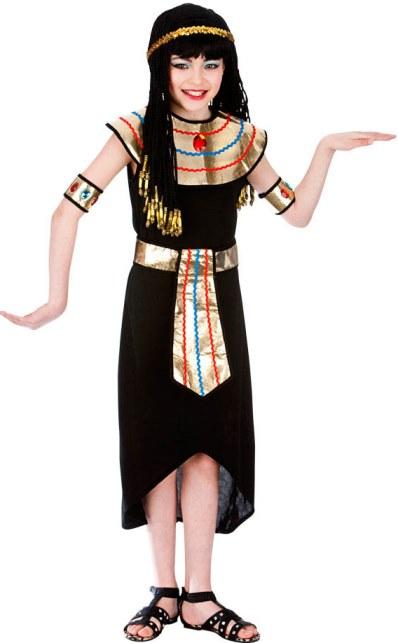 Dětský kostým Egyptská královna Kleopatra 5 dílný set M