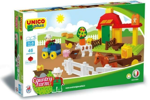 Unico Plus stavebnice Farma typ LEGO DUPLO 46 dílů