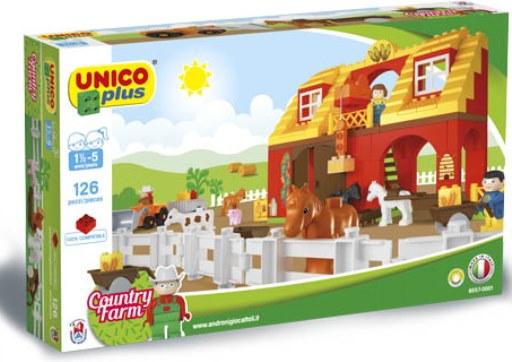 Unico Plus stavebnice Velká farma typ LEGO DUPLO 126 dílů