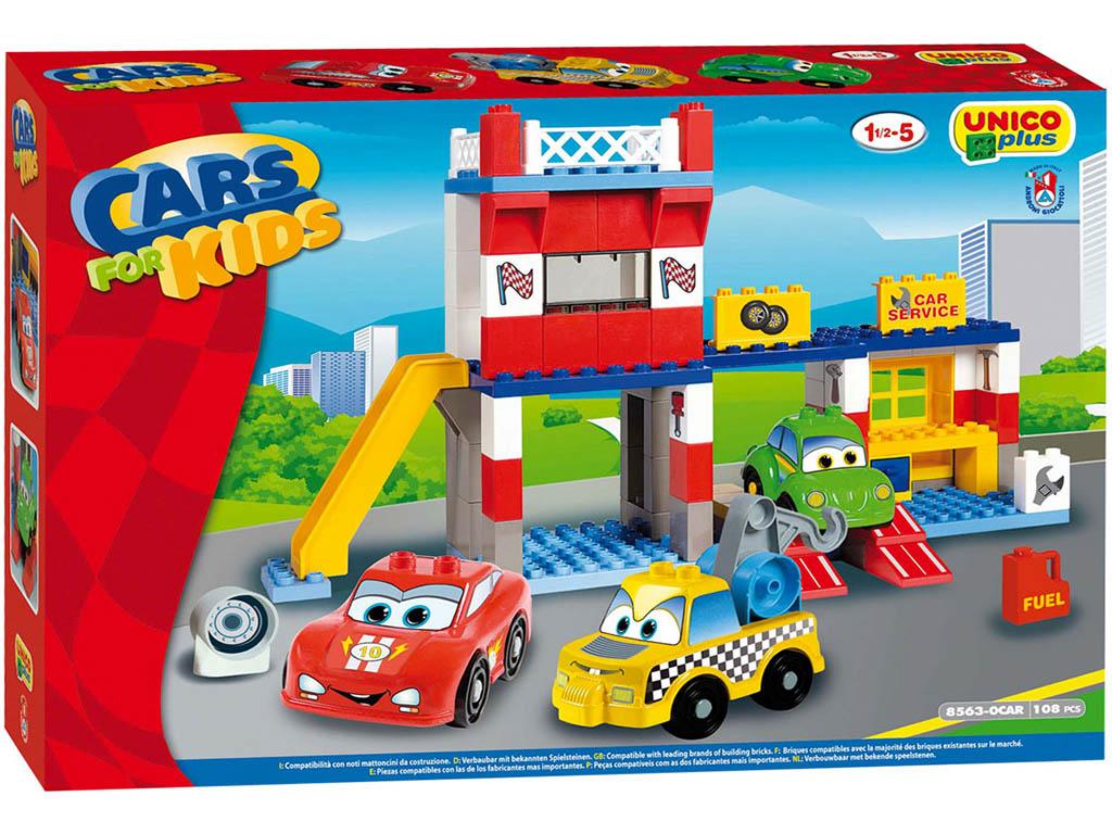 Unico Plus stavebnice Autoservis typ LEGO DUPLO 108 dílů