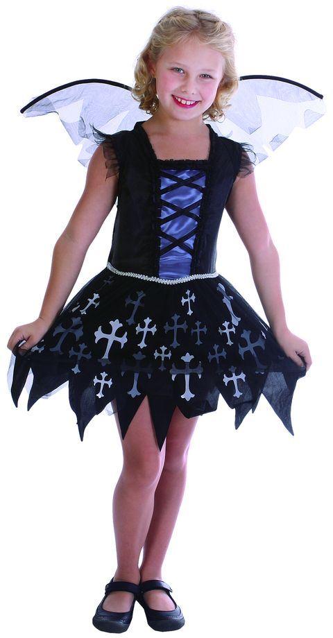 Dětský kostým víla vampírka sada 2ks Velikost kostýmu: L (10-12 let)