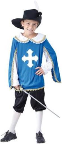 Dětský kostým Mušketýr 3 dílný set Velikost kostýmu: L (10-12 let)