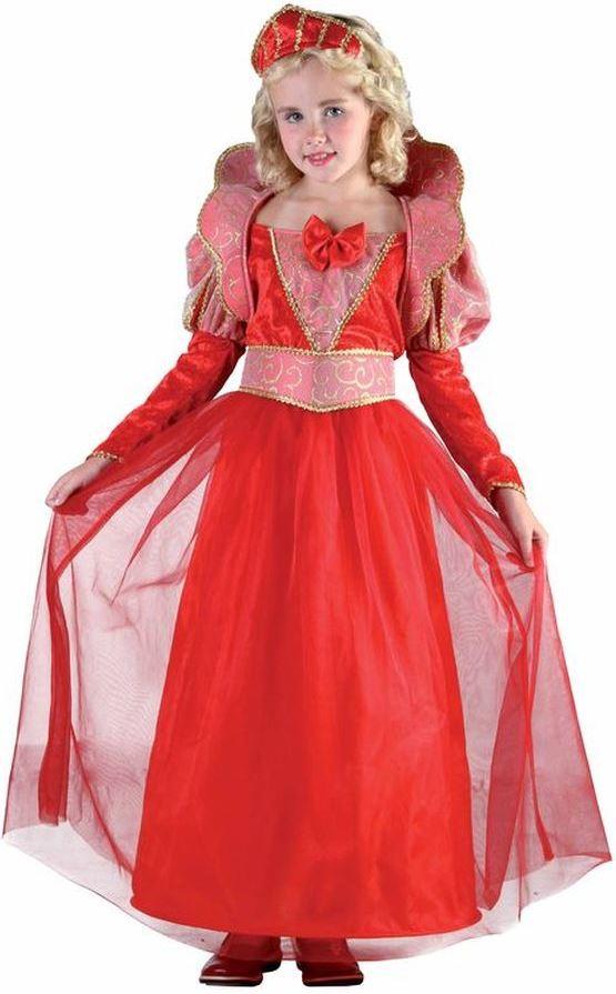 Dětský kostým Princezna červený sada 3ks Velikost kostýmu: L (10-12 let)