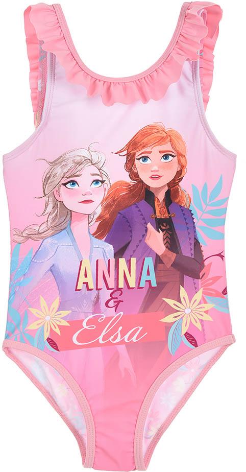 Dívčí plavky Frozen 2 Ledové království Anna a Elsa světle růžové Velikost: 104 (4 roky)