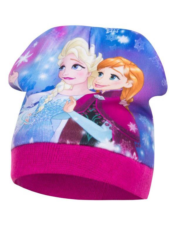 Dětská čepice Frozen Ledové království Anna a Elsa Velikost: RŮŽOVÁ 52