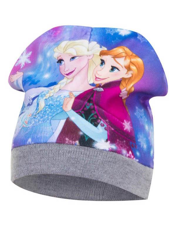 Dětská čepice Frozen Ledové království Anna a Elsa Velikost: ŠEDÁ 52