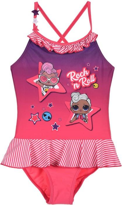 Dívčí plavky L.O.L Surprise Rock růžové Velikost: 140 (10 let)
