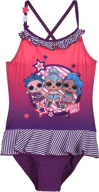 Dívčí plavky L.O.L Surprise Glitter fialové Velikost: 140 (10 let)