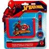 Dětská peněženka a hodinky Spiderman