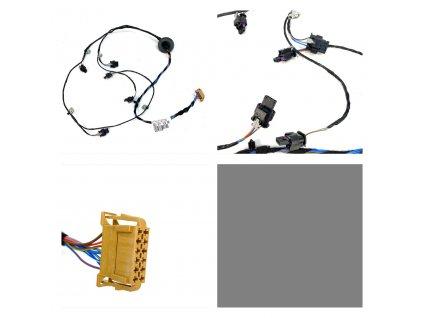 5E0971104AB Zadní kabeláž zapojení PDC OCTAVIA III
