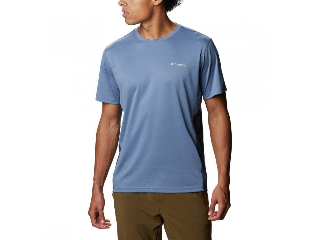 Columbia M Zero Ice Cirro-Cool ™ SS Shirt 1931292 Pánske Tričko Krátky Rukáv (Color Bluestone, Collegiate Navy Heather, VEĽKOSŤ MUŽI II XXL)