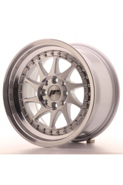 Disk Japan Racing JR26 15x8 ET25 4x100/108 Machined Sil