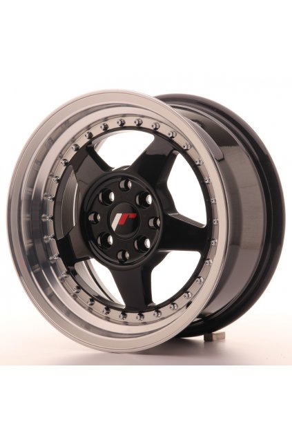 Disk Japan Racing JR6 15x7 ET25 4x100/108 Glossy Black