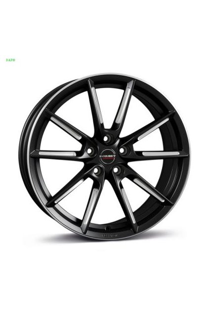 Disk Borbet LX 8x19 ET44 5x112 black matt spoke rim polished