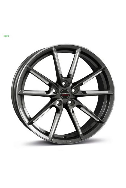 Disk Borbet LX 8x19 ET44 5x112 graphite spoke rim polished