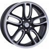 WSP MINI AMSTEL 7.5x19.0 ET52 5x120 DULL BLACK F POLISHED