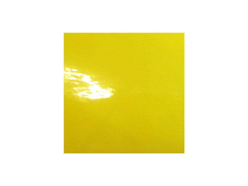 KPMF autofólie Petrklíčově žlutá lesklá kanálky