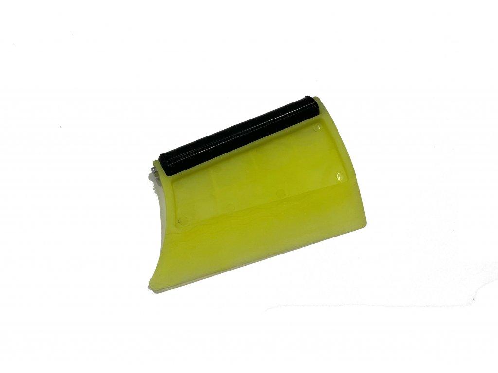 Superfolie Stěrka žlutá s rollerem - montážní pomůcka pro instalaci autofolie