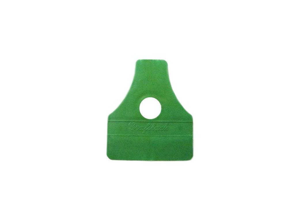 Grafiwrap Plastová stěrka ostrá - zelená - montážní pomůcka pro instalaci autofolie